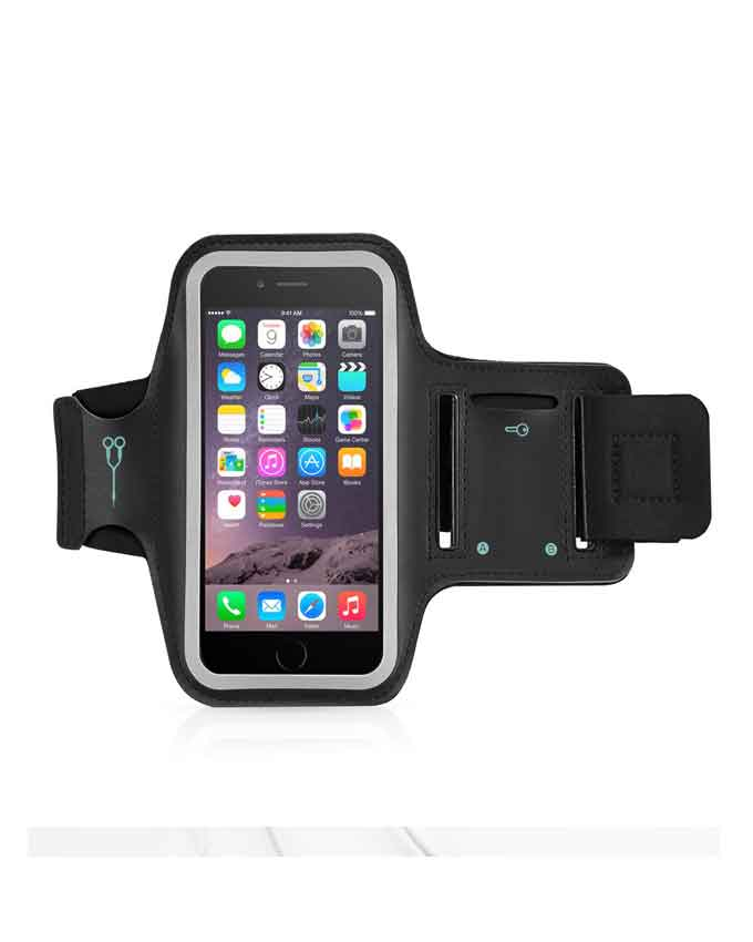 Arm Band 3 Mobile Sports Running Arm Band - Black