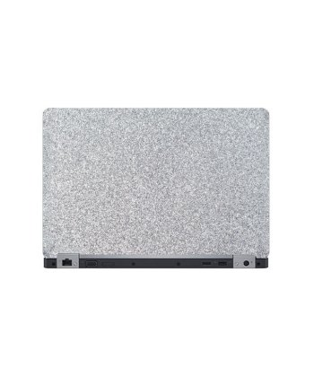 Laptop Back Cover Silver Glitter Texture