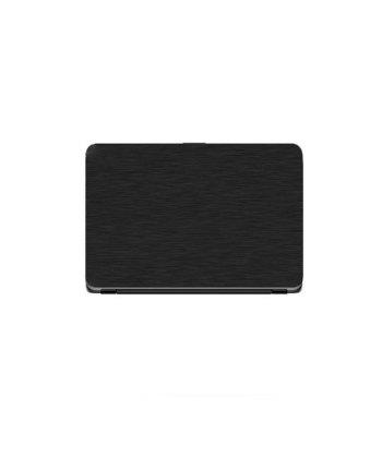 Laptop Back Cover Black Steel Texture