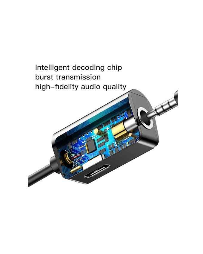 baseus l40 adapter audio type c do mini jack 35mm type c black eu blister Baseus Audio Converter Type C L40