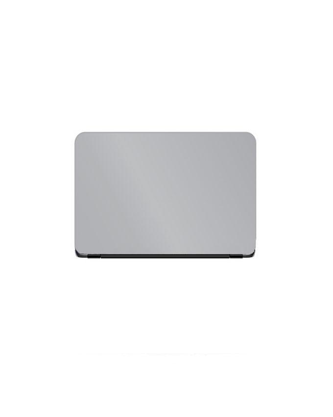 Laptop Back Stickers Silver Matte Texture