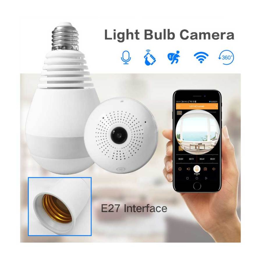 cctv bulb camera 360 panoramic price