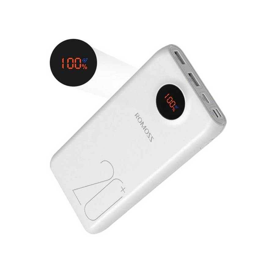 Romoss SW20 Pro 20000mAh Portable Power Bank Charger External Battery PD 3.0 Fast 18W Charging With LED Display For Phones Tablet Bdonix 1 Romoss 20000mAh Power Bank SW20 Pro