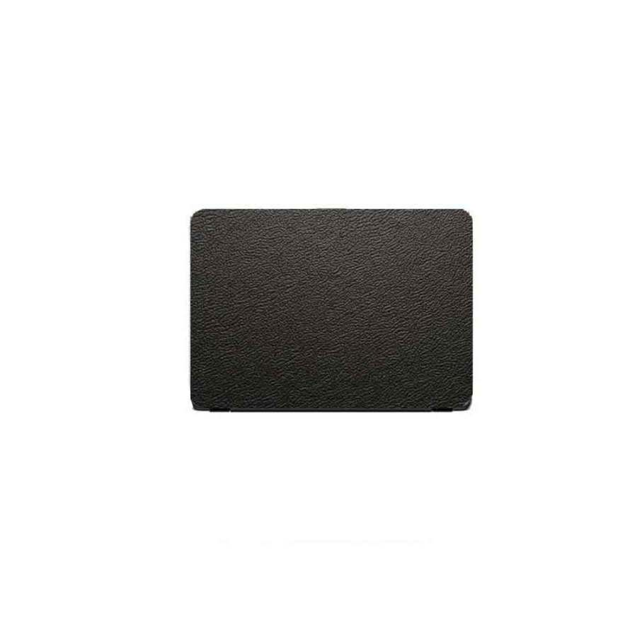 Laptop Back Stickers Leather Black Texture