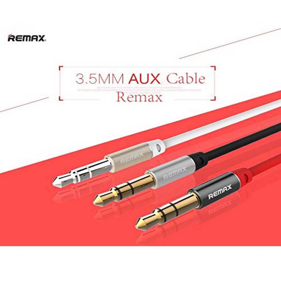 bDonix Remax 3.5mm Aux Cable L100 5 Remax RL-L100 3.5mm AUX Audio Cable male to male 1 Meter AUX Cable