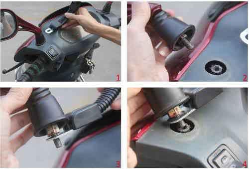 mobile bike holder