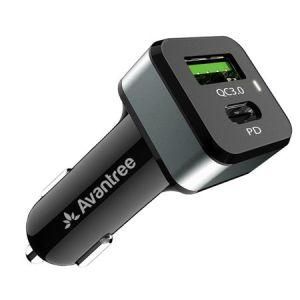 Incatcator auto Avantree TR410, USB QC 3.0, Type-C