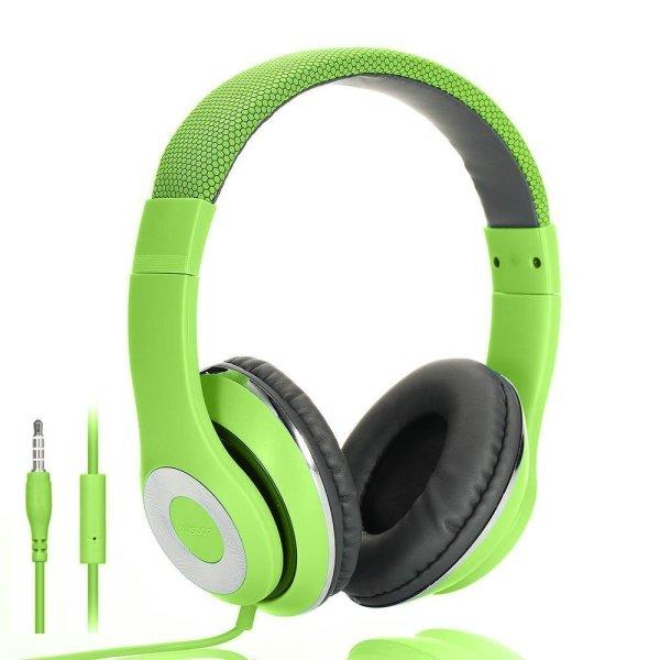 Casti audio cu fir Ausdom F01 Verde
