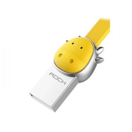 Cablu Micro USB Rockspace, Zodiac chinezesc, Bou, Galben
