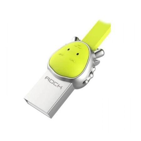 Cablu Micro USB Rockspace, Zodiac chinezesc, Dragon, Verde