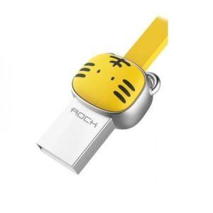 Cablu Micro USB Rockspace, Zodiac chinezesc, Tigru, Galben