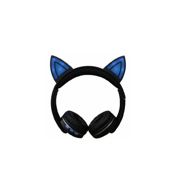 Casti bluetooth cat albastru