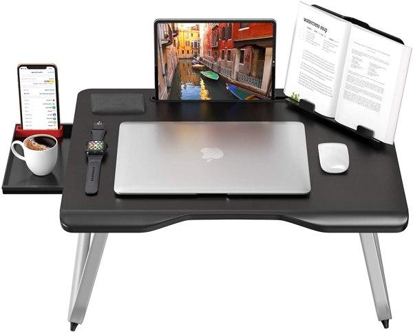 Masuta laptop multifunctionala MyTable 65*49 cm, negru