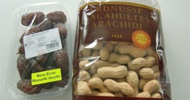 Datteln und Erdnüsse aus Israel