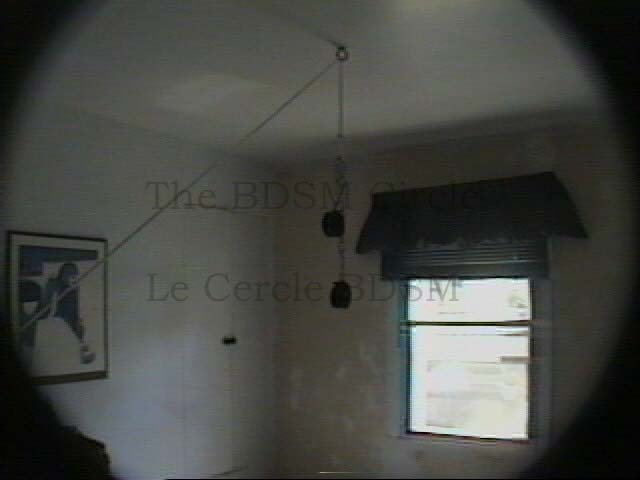 Picture of the ceiling of the room with its removable hook