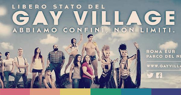 Una pubblicità del Gay Village