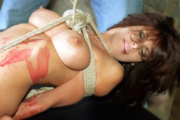 Bondage Queen Ashley Renee Wax Tortured in Tight Rope Bondage