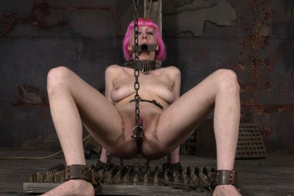 Cherry Torn Stripped, Tormented and Degraded in Heavy Chains