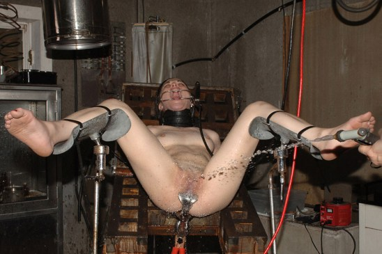 Cute Young Girl Squirts while Restrained, Spread and Tormented