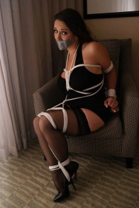 Jewell Marceau Gets Tied Up, Tape Gagged and Humiliated for Punishment