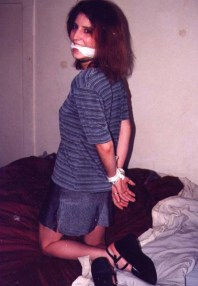 Pretty Vintage Girlfriend Gets Tied Up and Gagged at Home and Outside