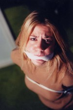 Submissive Blond Girlfriend Tied Up, Cleave Gagged and Degraded for Fun