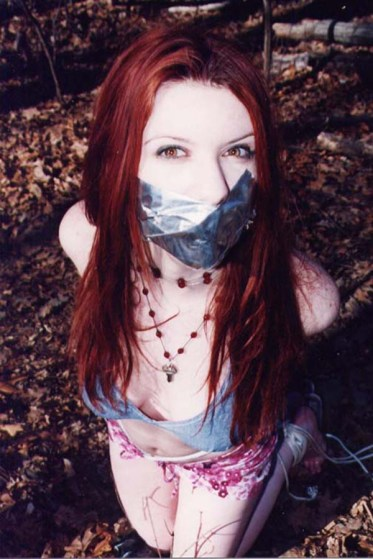 Young Amateur Girlfriend Tied Up and Gagged by Her Boyfriend in the Woods