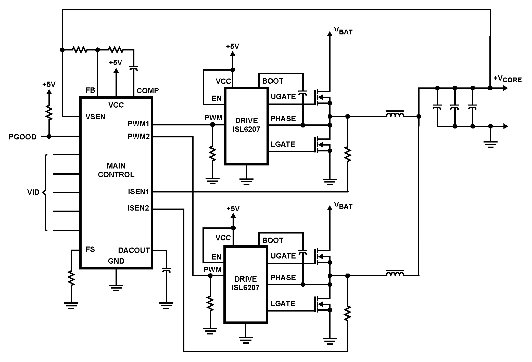 Isl High Voltage Synchronous Rectified Buck Mosfet