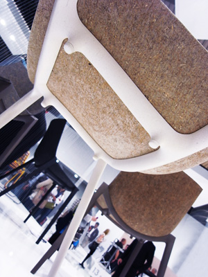 Cadeira Zartan em detalhe da superfície e textura