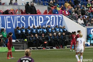 Team USA bench