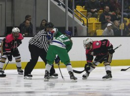 Kelli Stack and Brianna Decker face off