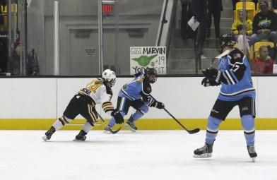 Buffalo Beauts Emily Pfalzer controls the puck