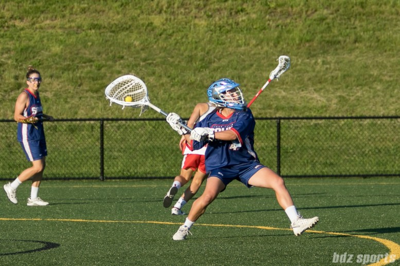 Long Island Sound goalie Caylee Waters (43) gets ready to launch the ball upfield.