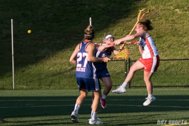 Boston Storm midfielder Hannah Murphy (8) takes a shot.