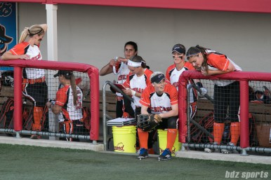 The Chicago Bandits dugout.