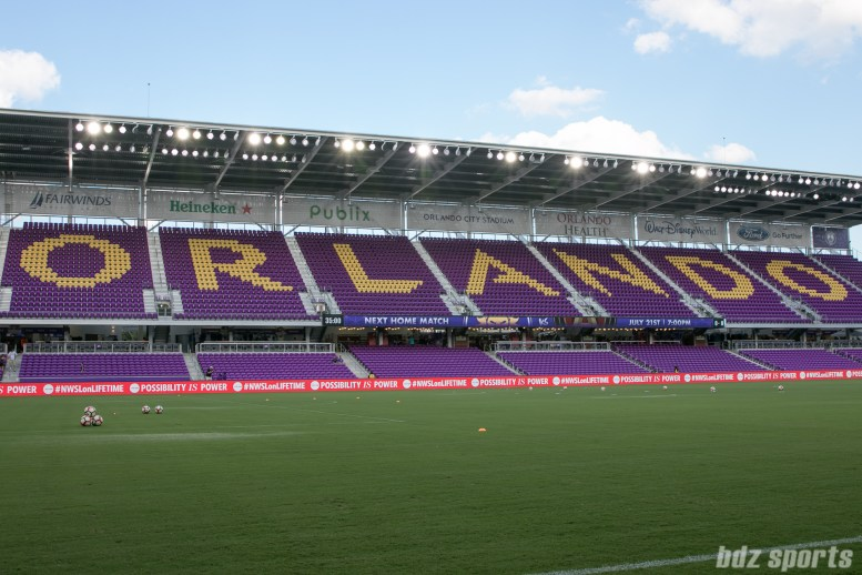 Orlando City Soccer Stadium before the start of the Orlando Pride vs FC Kansas City match.