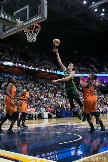 Seattle Storm forward Breanna Stewart (30) floats a basket in for 2 points.