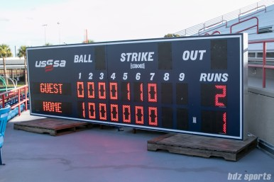 Final score for the Akron Racers vs Beijing Eagles on July 16, 2017 - Racers: 2, Eagles: 1