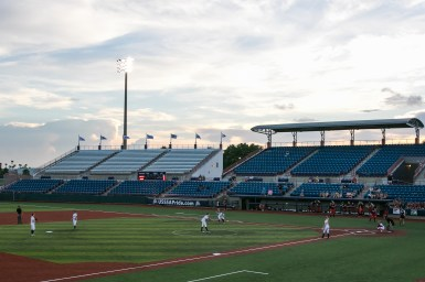 The USSSA Pride took on the Akron Racers at their home field at Space Coast Stadium in Melbourne, Florida on July 16, 2017.