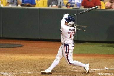 USSSA Pride catcher Chelsea Goodacre (77) at bat