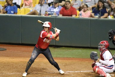 Scrap Yard Dawgs first baseman Britt Vonk (18) at bat