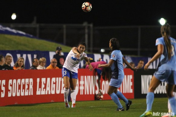 Boston Breakers defender Brooke Elby (3) takes a throw in
