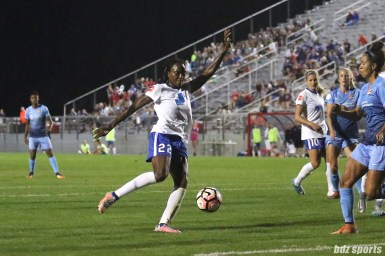 Boston Breakers forward Ifeoma Onumonu (22)