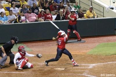 Scrap Yard Dawgs outfielder Brittany Cervantes (22) at bat