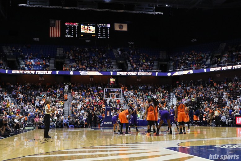 Mohegan Sun Arena prior to the WNBA round 2 playoff game between the Connecticut Sun and Phoenix Mercury
