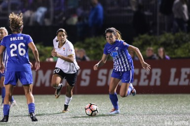 Boston Breakers defender Brooke Elby (3) controls the ball in the midfield