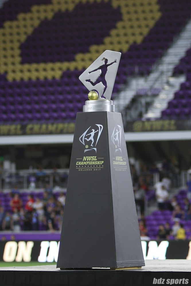 The NWSL Championship trophy