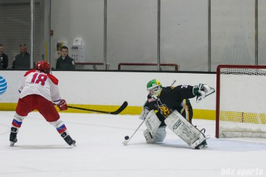 Boston Pride goalie Madison Litchfield (30) looks to make a save in the shootout