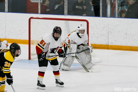 Calgary Inferno goalie Toni Ross (31)