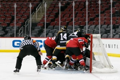 Metropolitan Riveters and Boston Pride crash the Pride goal
